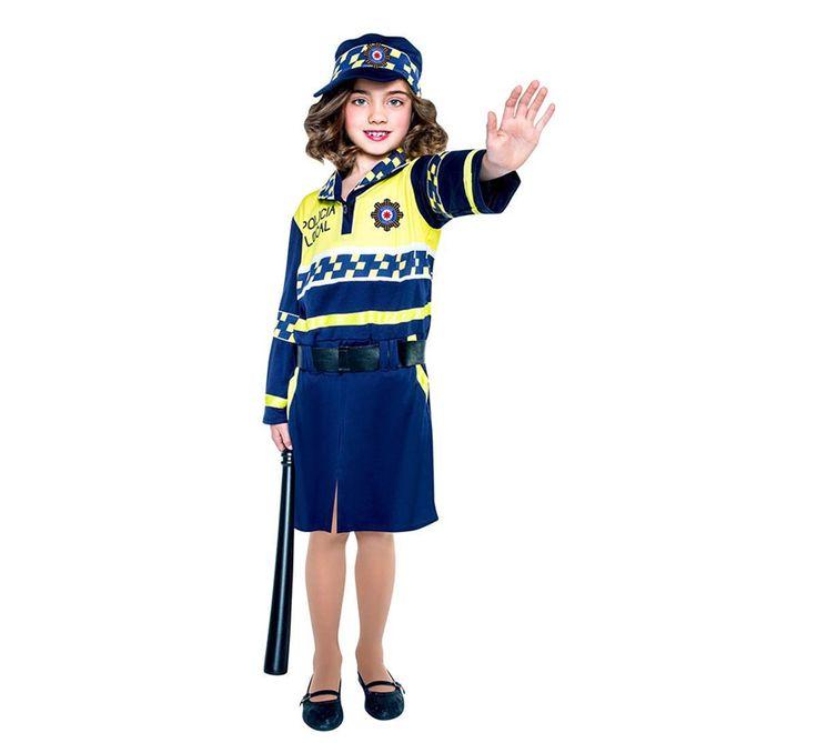DisfracesMimo, disfraz de policia local para niña varias tallas. Con este traje de Policía infantil te convertirás en un auténtico agente de la justicia. Este disfraz es ideal para tus fiestas temáticas de disfraces de policias infantiles.