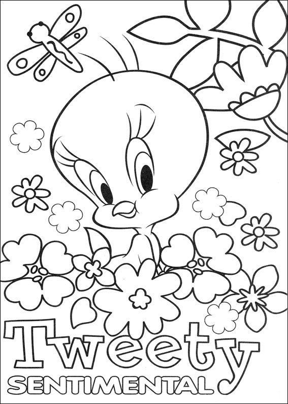 Dibujos para Colorear Silvestre y Piolin 33