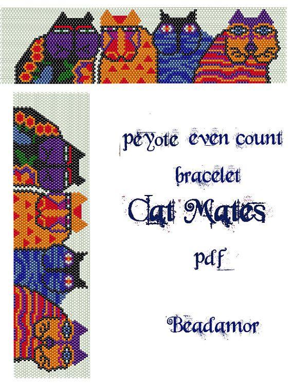 Peyote Pattern for bracelet Cat Mates