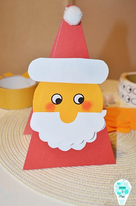 Geometric Santa Claus card