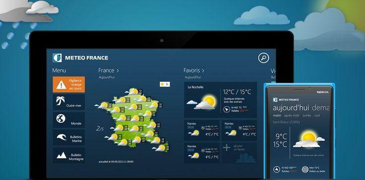Météo France : une nouvelle application mobile dédiée aux smartphones. #app #applicationmobile #responsive #digital #transformationdigitale
