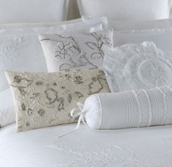 Heidelburg Range of duvet cover sets, pillow cases and cushions – 100% cotton with delicate white embroidered detailing  Available in the following sizes:  Three-quarter  Double  Queen  King  Super King  Continental Pillow  Round Cushion  Long Bolster