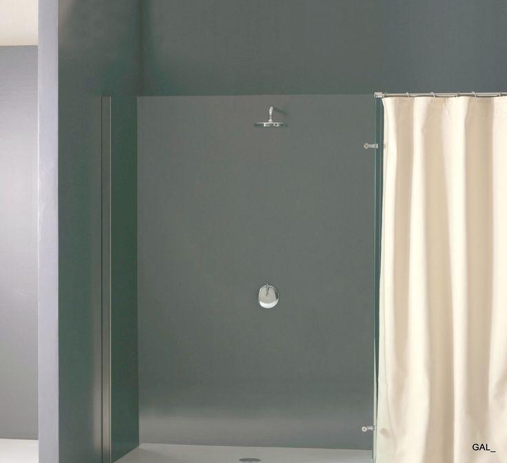 walk in shower with curtain gal loves minimal pinterest. Black Bedroom Furniture Sets. Home Design Ideas
