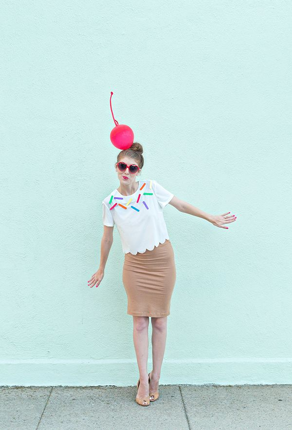 DIY Easy Ice Cream Cone Costume Tutorial