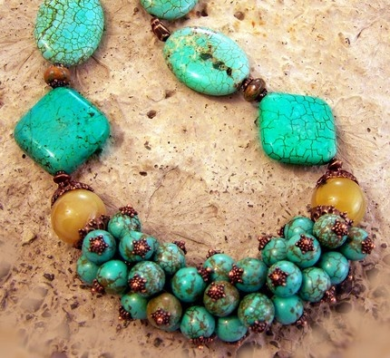 Turquoise is my favourite stone, this is a great statement piece