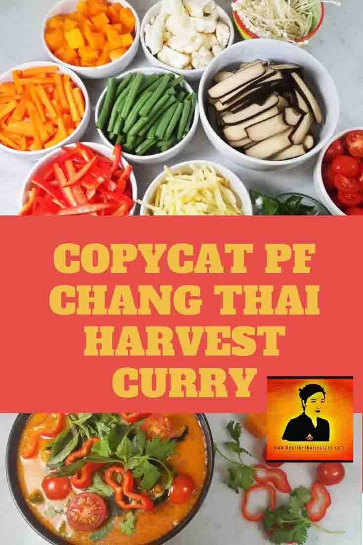 Copycat Pf Chang Thai Harvest Curry With Tofu Healthy Thai