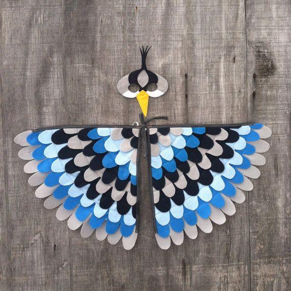 Kanadareiher Kostüm Set Flügel und Maske: 0-24 von TreeAndVine