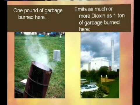 Open burning of plastic or rubber wastes can be dangerous to your health and the environment , The old barrels or the wood stoves do not reach high enough tempe