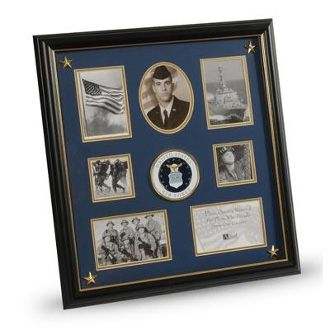 us air force medallion 7 picture collage frame with stars picture collagespicture framesmilitary - Military Picture Frames