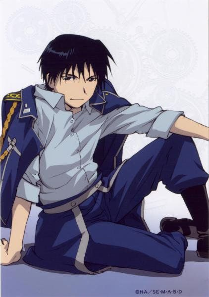 """Roy Mustang"", Fullmetal Alchemist. This pic has that ""out of uniform"" look"