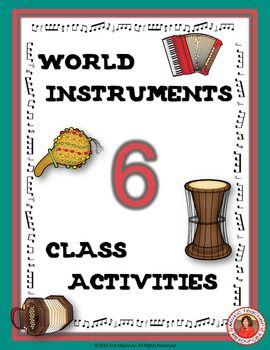 World Music lesson ideas/activities for kids! SIX Class Activities!