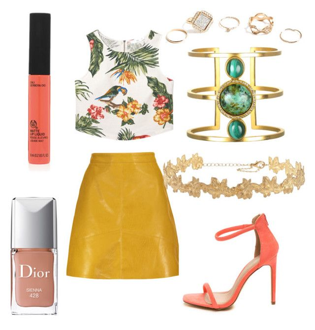 """tropical mood"" by bee100 on Polyvore featuring MANGO, GUESS and Christian Dior"