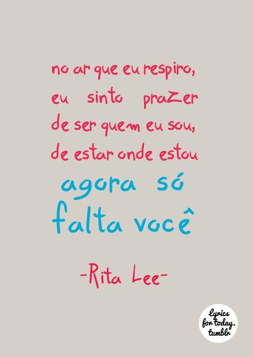 Agora Só Falta Você - Rita Lee