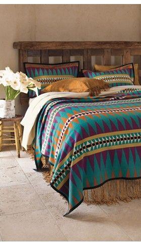 Turquoise Pendleton bed set