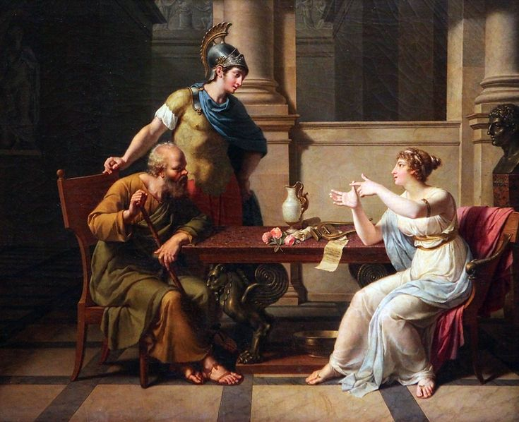 """The Debate of Socrates and Aspasia"".   (by Nicolas-André Monsiau)."
