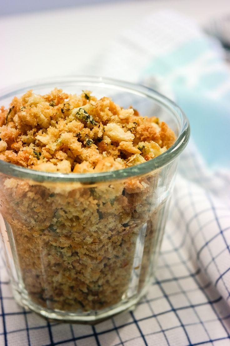Prøv denne gode og sprø blandingen som topping på pasta, salat eller suppe! Se oppskrift på Green Bonanza.