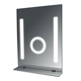 Fog Free Bathroom SteamSpa Tall Mirror with Glass Shelf