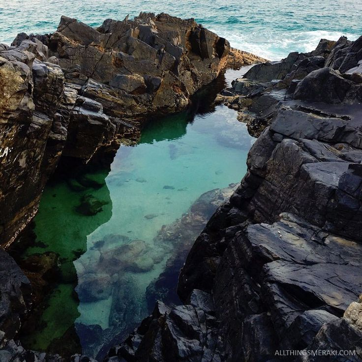 The Fairy Rock Pools, Noosa National Park Queensland