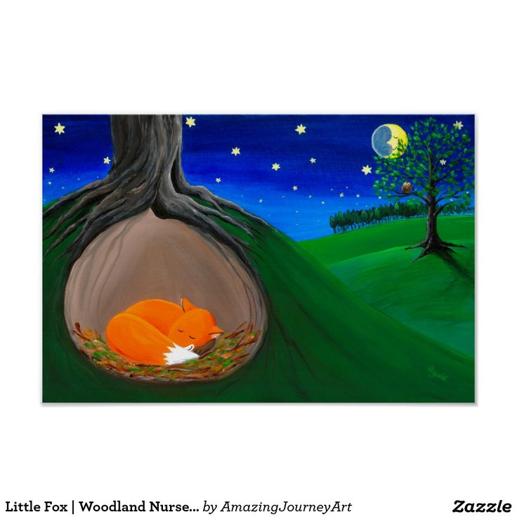Little Fox | Woodland Nursery Dreamy Poster