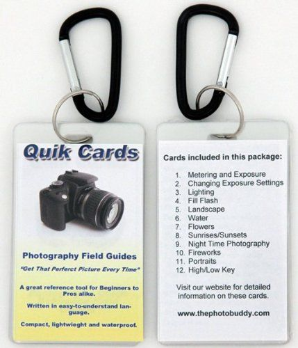 DSLR & SLR Cheatsheets. Pocket sized quick reference cards. Learn to take breath taking photos every time you use your camera. Digital Camera Guide, Photography Manual, Tips for Digital or Film SLR cameras. For use with Canon, Nikon, Olympus, Sony, Fuji, Pentax, Contax, Leica, Mamiya, Hasselblad, Bronica and more
