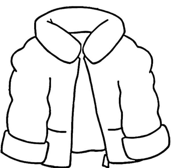 """The Jacket I Wear in the Snow"" Winter Coat Coloring Page"