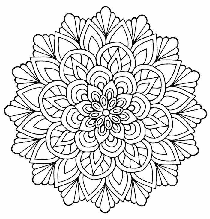 1001 Coole Mandalas Zum Ausdrucken Und Ausmalen Mandala Coloring Mandala Coloring Books Flower Coloring Pages