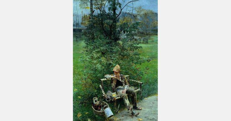 """Jacek Malczewski, """"Introdukcja"""", 1890, olej na płótnie, fot. Muzeum Narodowe w Krakowie"""
