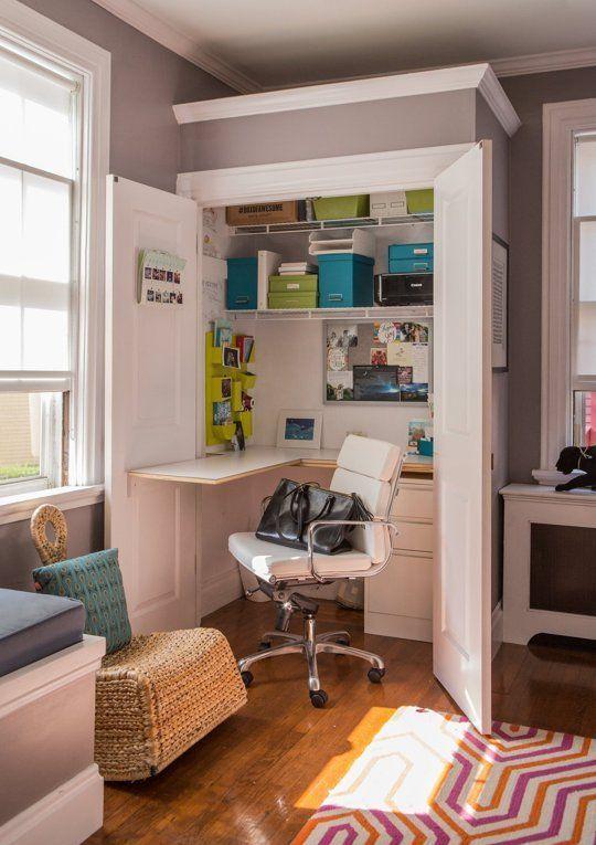 Best 25+ Closet office ideas on Pinterest | Closet desk ...