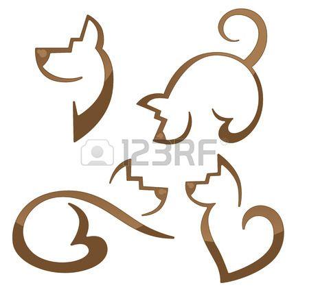 Vektor-Sammlung von Tieren Symbole photo