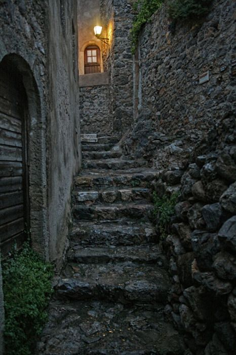 Cobbled road in Monemvasia