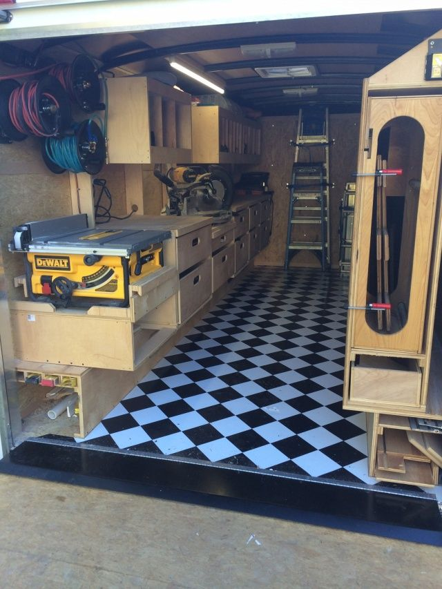 Job Site Trailers Show Off Your Set Ups Page 71 Contractor Talk Professional Construction And Remode In 2021 Work Trailer Trailer Shelving Trailer Organization