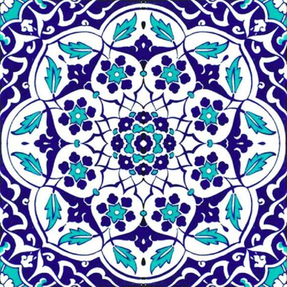 Cyber Sale Turkish Ottoman Style Iznik Ceramic 4 Pcs
