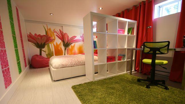J'aime la luminosité de la chambre malgré qu'elle soit au sous-sol! / Une chambre pour pré-adolescente | Style France Arcand | CASA