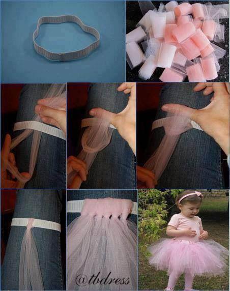 DIY tutu!  So easy to make for a little girl!