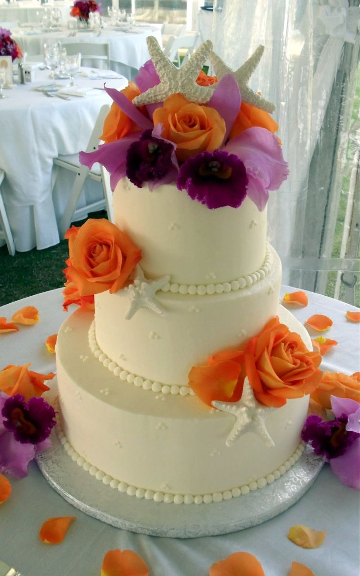 wedding cakes los angeles prices%0A Just Desserts    Outer Banks Wedding Cakes  Just Desserts Cake Gallery   Beach Theme