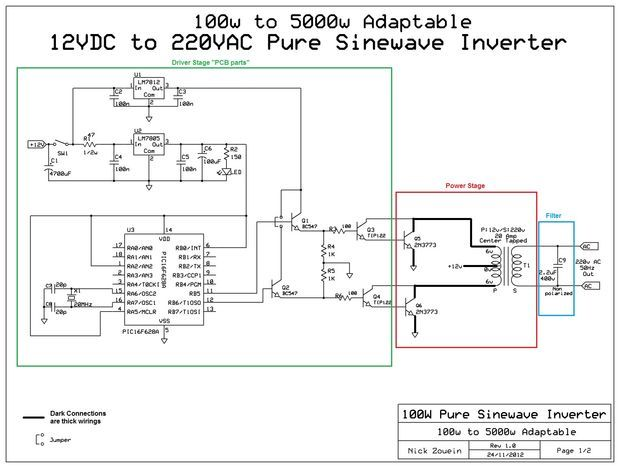 Picture of Adaptable 12vDC/220vAC Pure Sinewave Inverter
