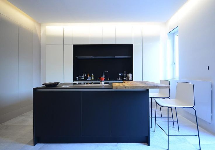 Amazing kitchen island in #fenix smart material in our recently finished apartment in Bologna, Italy.  #fenixntm #material #smart #kitchen #design #kitchenisland #interior #interiordesign #bologna #italy #emporioorenga