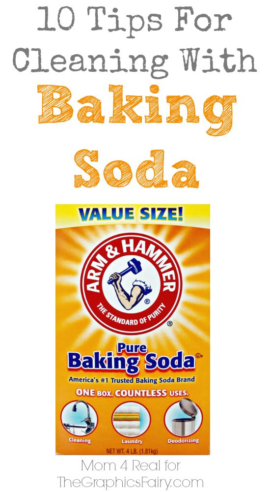 10 Tips For Cleaning With Baking Soda - Vintage Household Tip - The Graphics Fairy