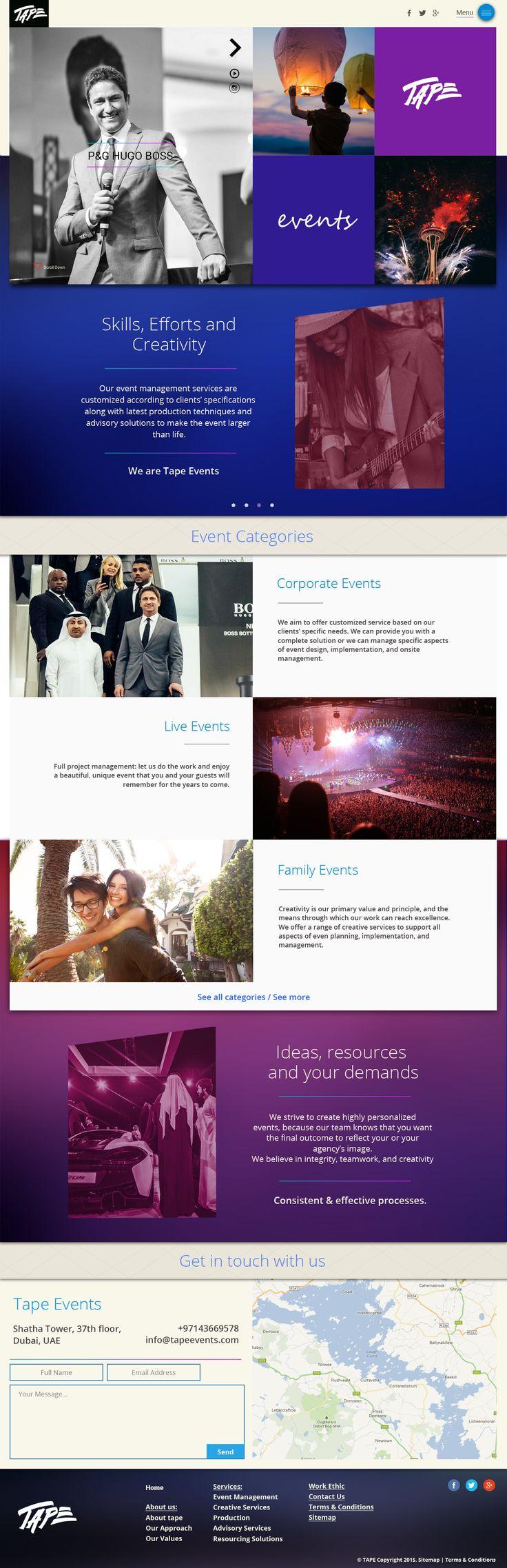 Tremendous Event Management Web Design Cool And Unique Cool Website Easy Diy Christmas Decorations Tissureus