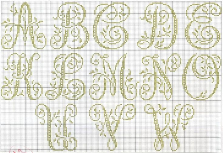 cross stitch monograms #1