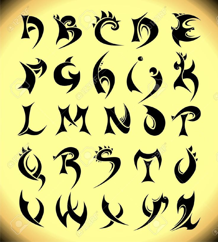 Gothic Alphabet. Vector Royalty Free Cliparts, Vectors, And Stock ...