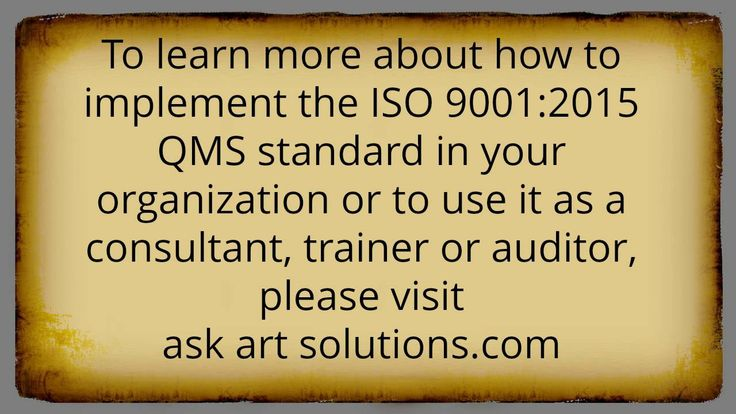 ISO 9001 Consulting - Frequently Asked Questions Part 7