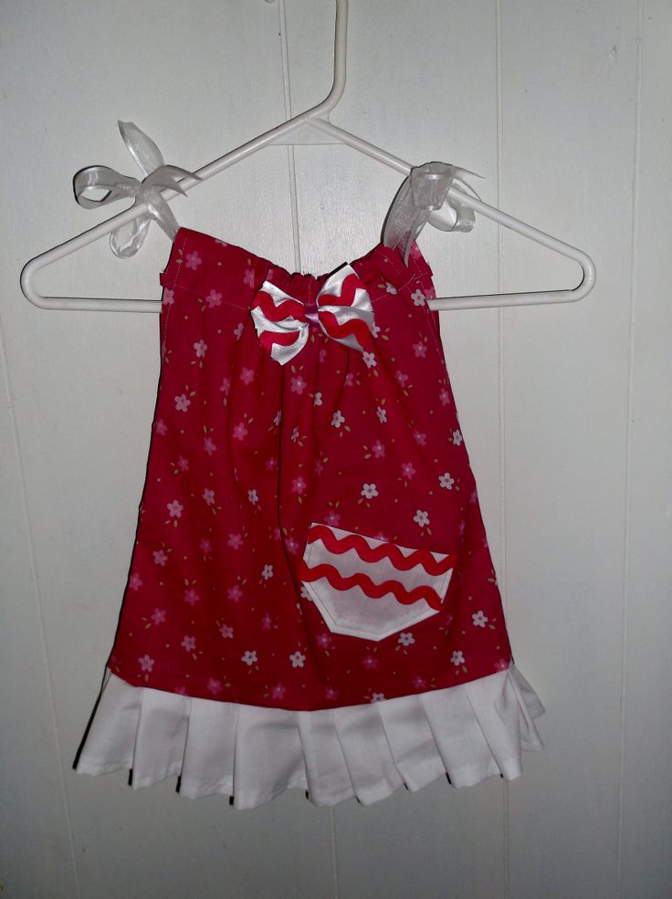 My favorite one so far Pillowcase dress with matching hairbow for Annalee Pinterest So