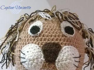 Capitan Uncinetto: cappello leone con paraorecchie