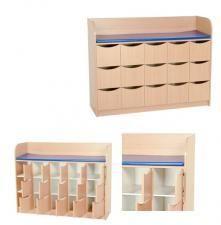 Table à langer modulable-Table modulable -  meuble de rangement à 15 casiers