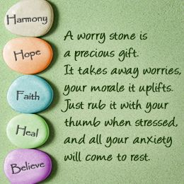 Uses of a worry stone