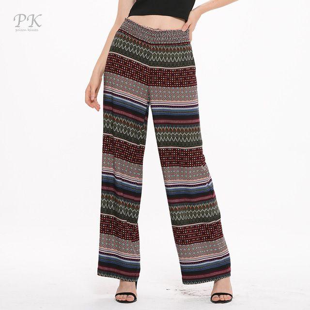 rabais de premier ordre prix spécial pour grande remise PK viscose pantalon dames plage d'été 2017 large jambe ...