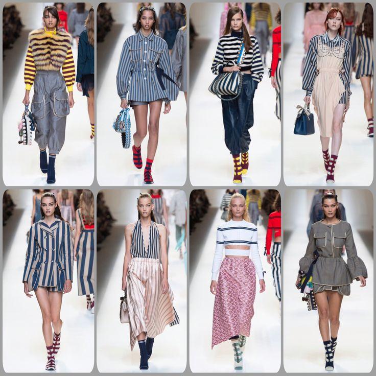 #легкие и #воздушные ,а с другой #стороны #сильные и #уверенные #девушки #получились в #коллекции #fendi #readytowear #весна #лето #2017 #главный #принт -#полоска  #style #womens #fashion #модаистиль #мода