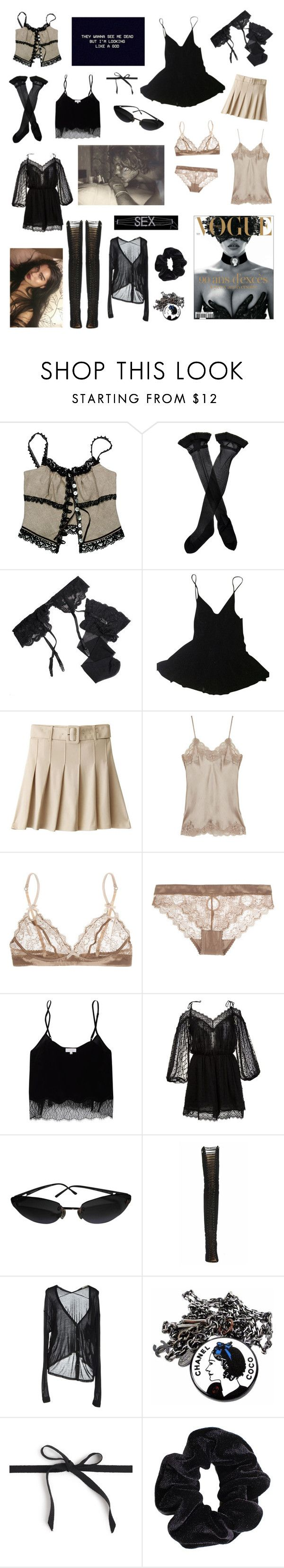 """Untitled #380"" by brookej659 ❤ liked on Polyvore featuring Razu Mikhina, Trasparenze, Reger by Janet Reger, HAMNETT, Gold Hawk, Elle Macpherson Intimates, Wilfred, Zimmermann, Chanel and Alternative"