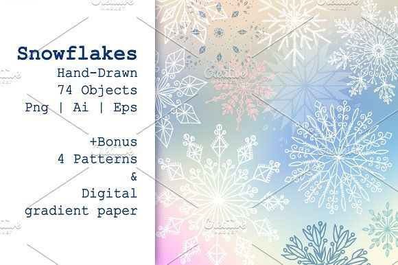 Snowflakes by Alex.artline on @creativemarket